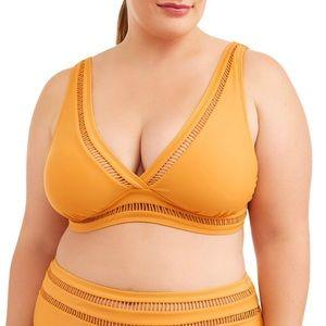 Other - New mustard yellow plus bikini top cut out Swim